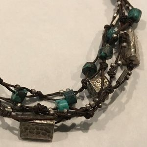 Nakamol Silver Turquoise Necklace Anthropologie